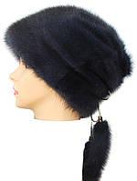 Женская меховая шапка норковая,Альбина (ирис)