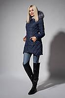 Зимняя женская молодежная куртка. Код К-62-36-17. Цвет синий.