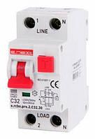 E.NEXT Выключатель дифференциального тока (дифавтомат) 1P+N, 32А, С, тип А, 30мА