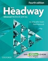 New Headway 4th Ed Advanced Workbook with Key & iChecker CD (рабочая тетрадь)