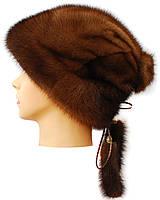 Женская норковая шапка,Альбина (орех)