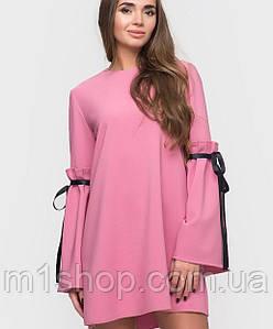 Женское свободное платье из костюмной ткани(2297sk)