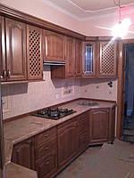 Кухня  з масиву дуба кутова