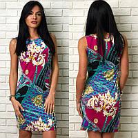 """Платье женское с ярким принтом, платье """"Цепи"""", размеры Норма, разные цвета."""