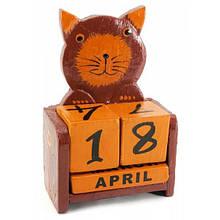 Календарь из кубиков Кот на стол