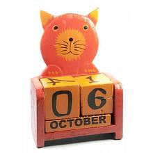 Календарь на стол из кубиков Кот