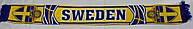 Шарф фанатский вязанный с символикой сборной Швеции