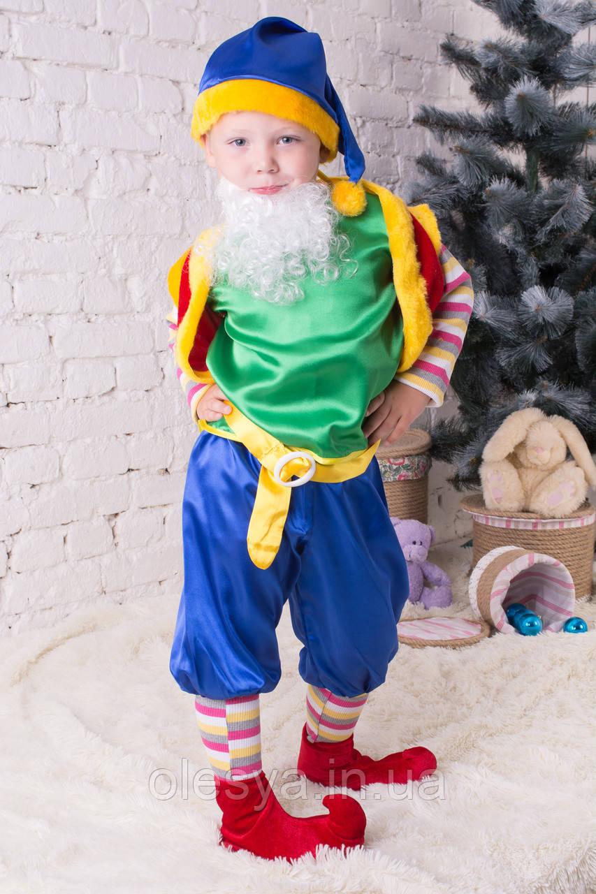 Детский новогодний костюм Лесного гнома РАЗМЕР 116 см-134 см