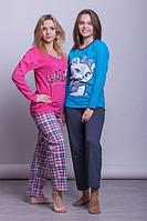 Теплые турецкие пижамы из хлопка всего по 300 грн