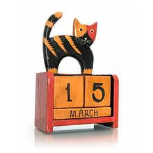 Календарь на стол кубики из дерева Кот