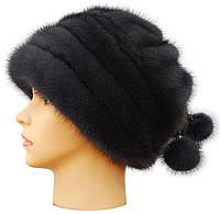 Зимняя меховая шапка,Барби норковая (ирис)