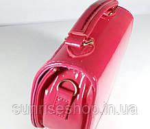 Сумочка для девочки  лаковая малиновая, фото 2