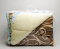 """Теплу ковдру полуторного розміру з овечої вовни """"Лері Макс"""" - завитки"""