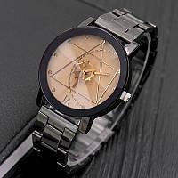 Женские часы Triangle с бежевым циферблатом, жіночий годинник, женские часы с металлическим браслетом, фото 1