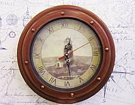 """Часы из дерева """"Маяк"""" морская тематика,декор,сувенир"""