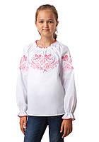 Вышитая блузка для девочки (размеры 140-158)