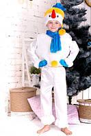 Детский оригинальный  новогодний  костюм  Снеговик 2
