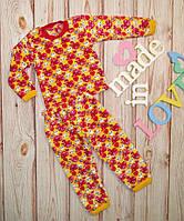 Детская пижама на девочку махровая,Сердца на рост 80-122см