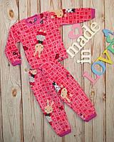 Детская пижама на девочку махровая Кролик , на рост 80-122см