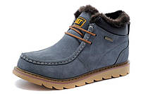 Caterpillar Winter Boots Light Blue. Стильные ботинки. Ботинки Caterpillar.