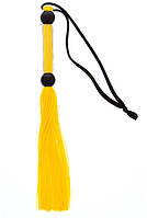 Флогер GP SILICONE FLOGGER WHIP YELLOW, 26 см.