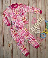 Детская пижама на девочку махровая ,очень теплая на рост 80-122  свинка Пеппа