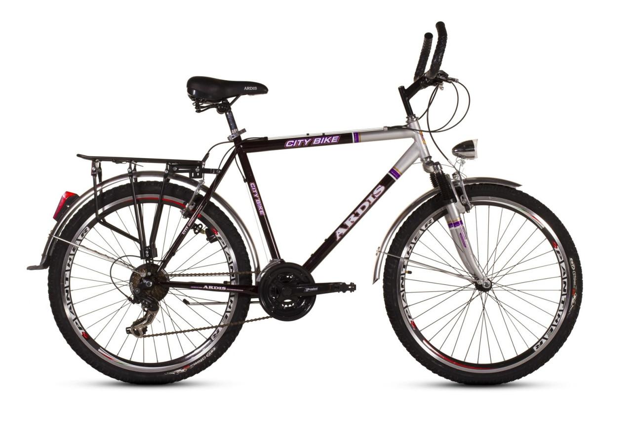 """Городской велосипед  ARDIS CITY CTB M 26""""  Черный/Серый"""