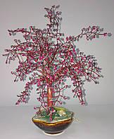 Денежное дерево из бисера пылающее