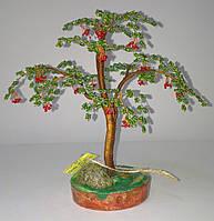 Денежное дерево из бисера Рябина, фото 1