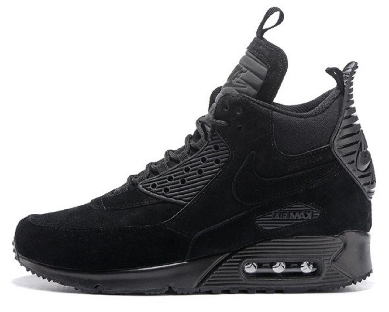 Мужские кроссовки Nike Air Max Sneakerboots 90 Black (найк аир макс 90,  черные) 54d71421fad