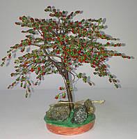 Денежное дерево из бисера с плодами, фото 1