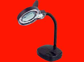 Настольная лампа с увеличительным стеклом 3+8Х 90мм +подсветка ZD-123