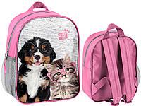 Рюкзак маленький с собакой и кошкой PASO PEN-303