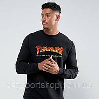 Свитшот  Thrasher Flame New Logo  | Толстовка Трешер