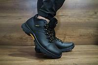 Мужские зимние Ботинки Ecco, натуральная кожа, набивная шерсть, размеры 40,41,42,43,44,45