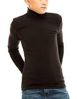 Гольф (водолазка) подростковый, на флисе, черный