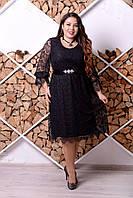Кружевное нарядное платье большого размера 1015329