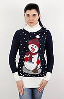 Очень красивый и теплый свитер снеговик