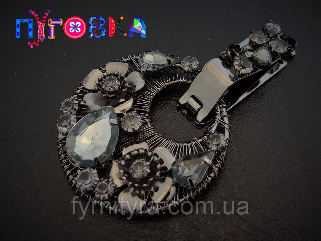 Клипса шубная (шубный крючек) 029, black