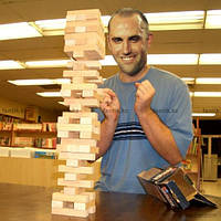 "Игра ""Дженга-Гигант"", массив дерева (60 брусков) 3,9кг (48х12,5х12,5 см) ,Без упаковки"