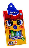 Мел пастель масленая Colorite 12 цветов Marco