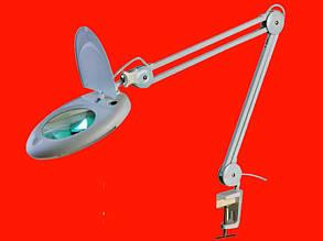 Увеличительная настольная лупа (LED подсветка) 5Х 130мм ZD-140A