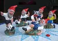 Гномы футболисты 14 см, небьющаяся фигурка., фото 1