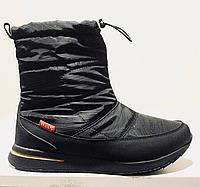 Женские зимние ботинки с регулируемой халявкой BaaS чёрные
