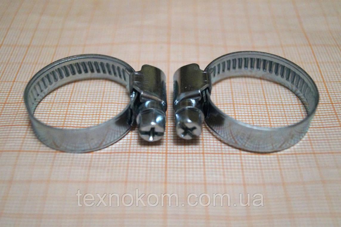 Хомутик червячный для патрубков 16-27 мм