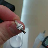 """Кольцо с бриллиантом 5,3мм/0,6кт VS2/F """"Снежная Королева"""""""