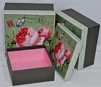 """Коробка подарочная """"Розы""""  - набор 3 шт."""