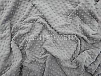 Ткань плюш  для конвертов на выписку Minky светло-серый