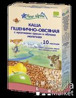 Детская каша органическая молочная пшенично-овсяная с грушей и яблоком Fleur Alpine, 200 г