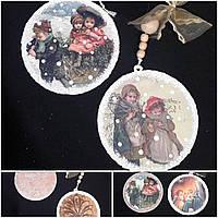 Новогоднее елочное украшение ручной работы, 35 см., 85/75 (цена за 1 шт. + 10 гр.)